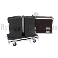 Flight cases 2 loudspeakers K12 QSC