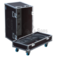Flight cases 2 loudspeakers NUQ15 TURBOSOUND