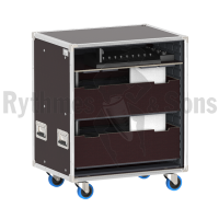 Trays rack for 10 conference units MXCW640 SHURE + Microphones + Access Point Receiver + Battery