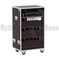 Trays rack for 20 conference units MXCW640 SHURE + Microphones + Access Point Receiver + Battery