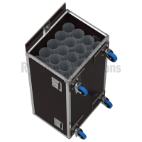 Flight case for 20 microphones stands