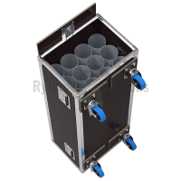 Flight case for 12 microphones stands