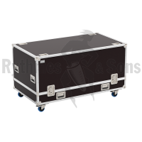 Flight case for projector CHRISTIE CRIMSON/BOXER SERIES with stacking frame