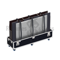 Classic flight case with double lids for 2 displays from 70' to 85'