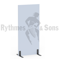 Protective partition 0,90xH2m in grey