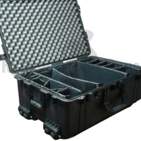 PELI™ 1650 Protector case 726x445xH271 int. with foam, dividers and wheels