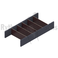 Kit for removable dividers for tray H200 Width 1200 mm