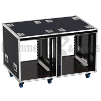 Flight-case - Rack 19' OpenTop® suspendu 2x12U, prof. 700mm