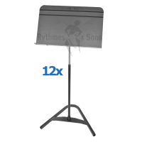Set of 12 MANHASSET<sup>®</sup> Harmony #81 Music Stands