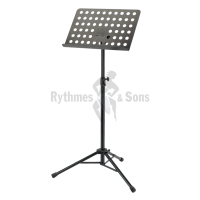 Foldable KOENIG & MEYER (K&M) music stand with holes desk