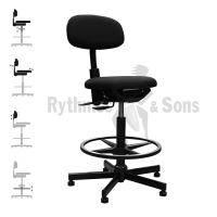 RYTHMES & SONS Multi setting Orchestra Chair, round seat