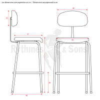 Mobilier d'orchestre - Chaise fixe empilable RYTHMES & SO-3
