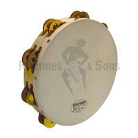 Percussions - Tambourins Ø10'/26cm GROVER, 2 rangées cymbale
