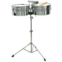 BSX Ø13'+14' Latin timpani on stand - metal shell