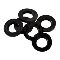 Black polyethylene washers 12x6,2x1