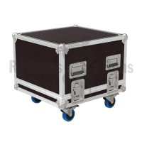 Flight case for 19' studio rack 8U