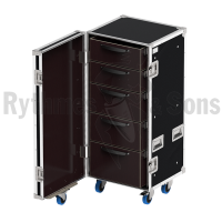 19UT Tool storage flight case with 5 drawers