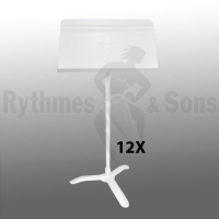 Set of 12 MANHASSET<sup>®</sup> White Symphony #48 Music Stand