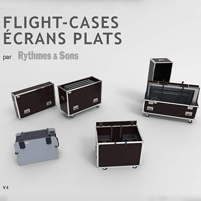 Catalogue Flight-cases pour écrans plats